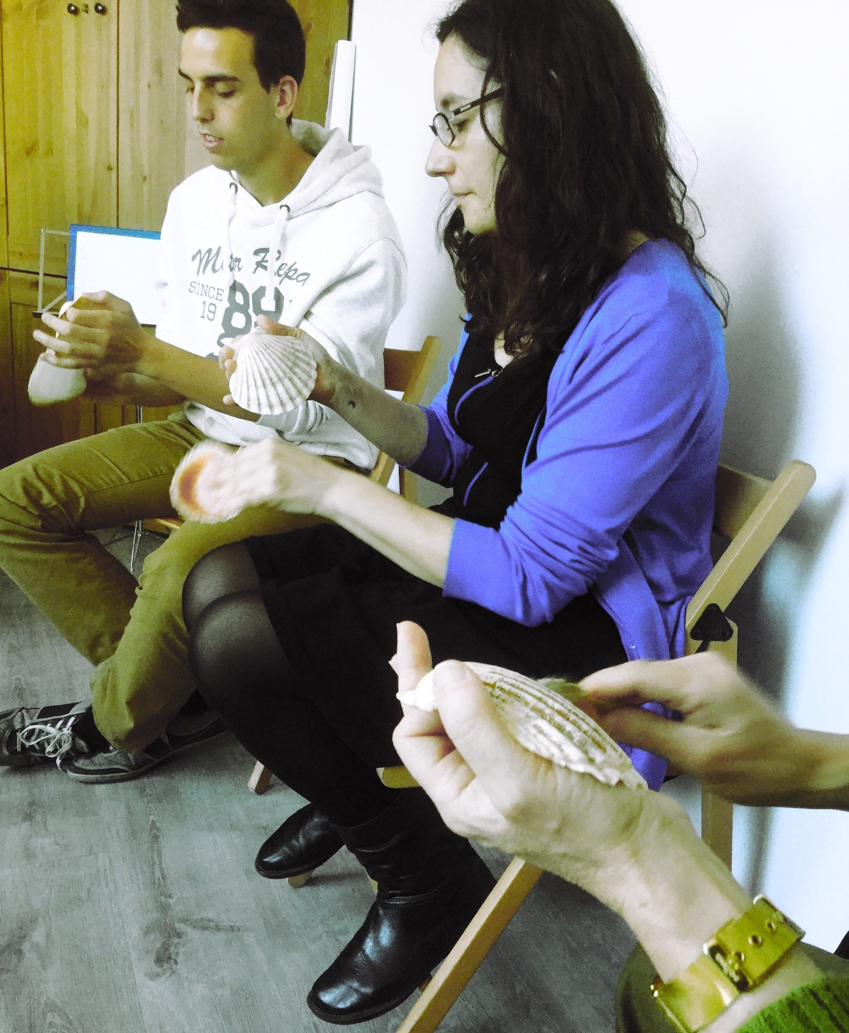 percusión gallega vieiras cunchas