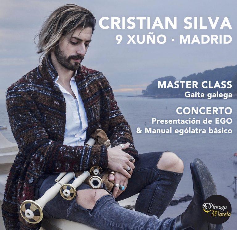 Cristian Silva Master Class de gaita y concierto en Madrid