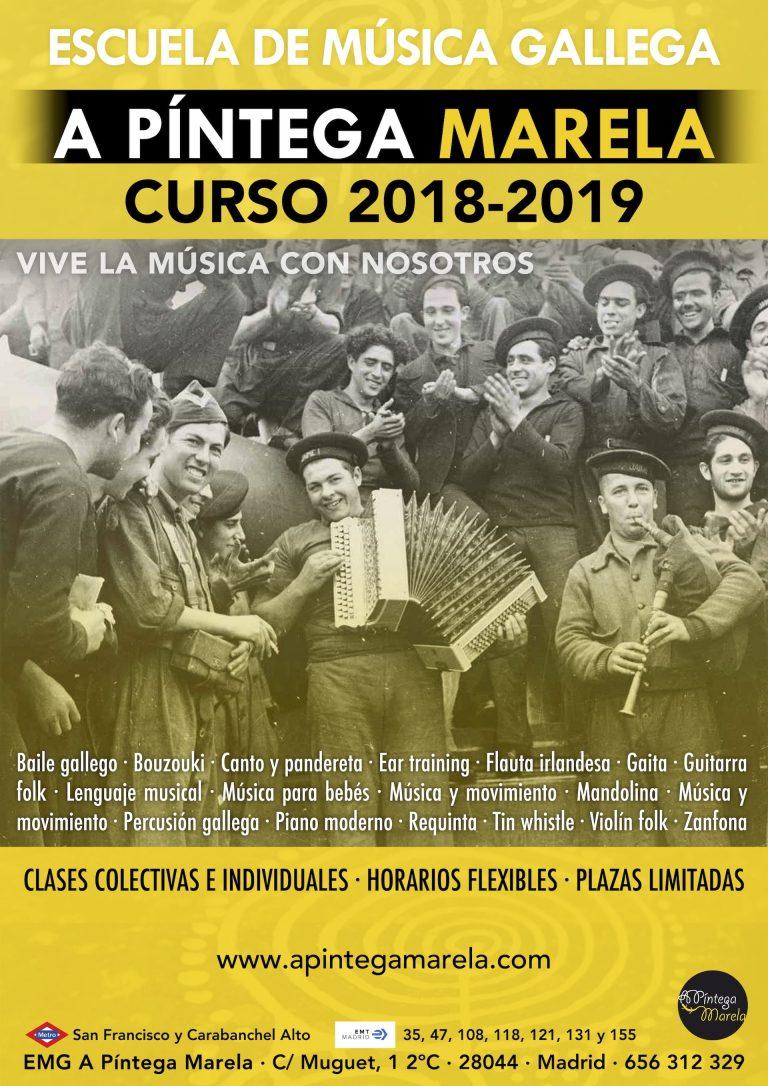 Vive la música gallega en Madrid en A Píntega Marela - curso 2018-2019