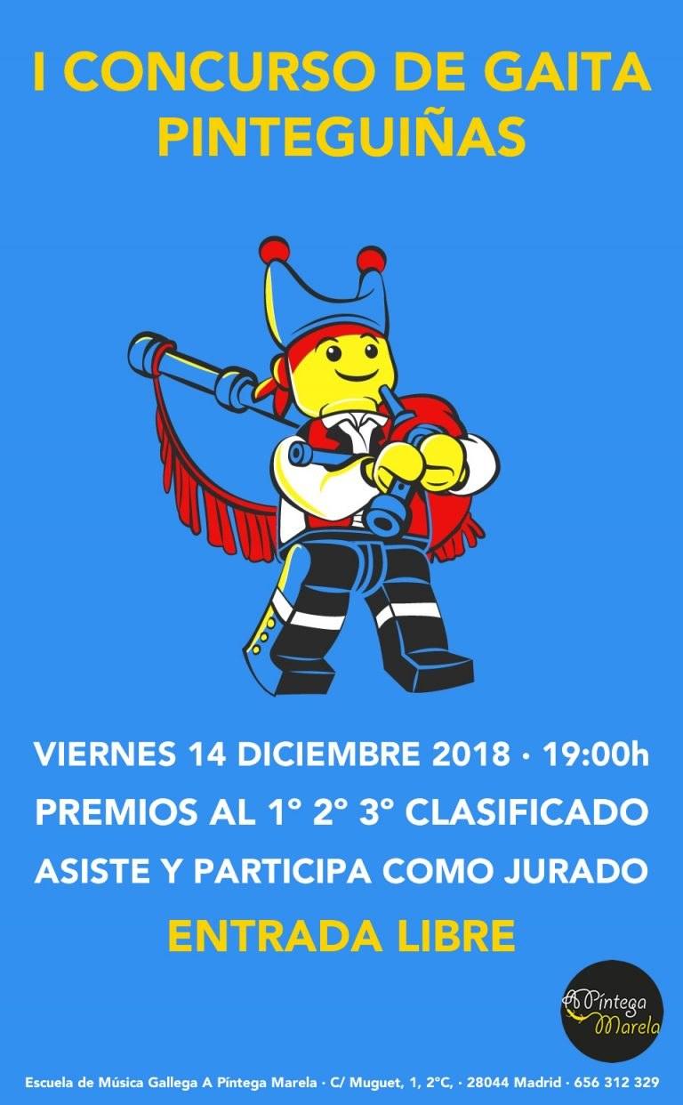 I concurso de gaita Pinteguiñas en Madrid - A Píntega Marela