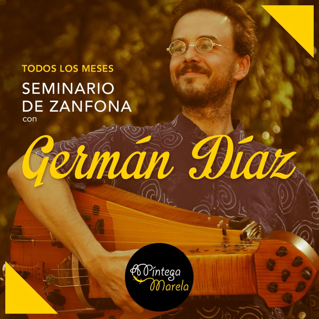 Seminario de zanfona en Madrid con German Diaz - clases de zanfona en A Píntega Marela