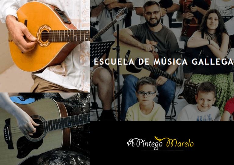 Cuerdas folk bouzouki o guitarra folk A Píntega Marela
