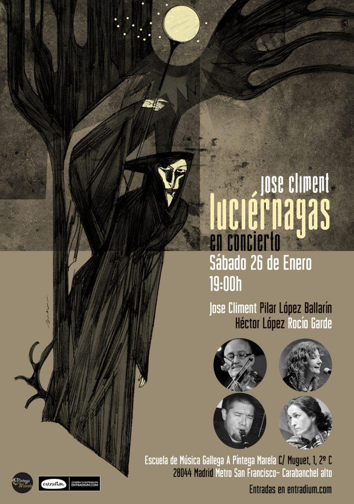 Concierto presentación CD Luciernagas Madrid - A Píntega Marela