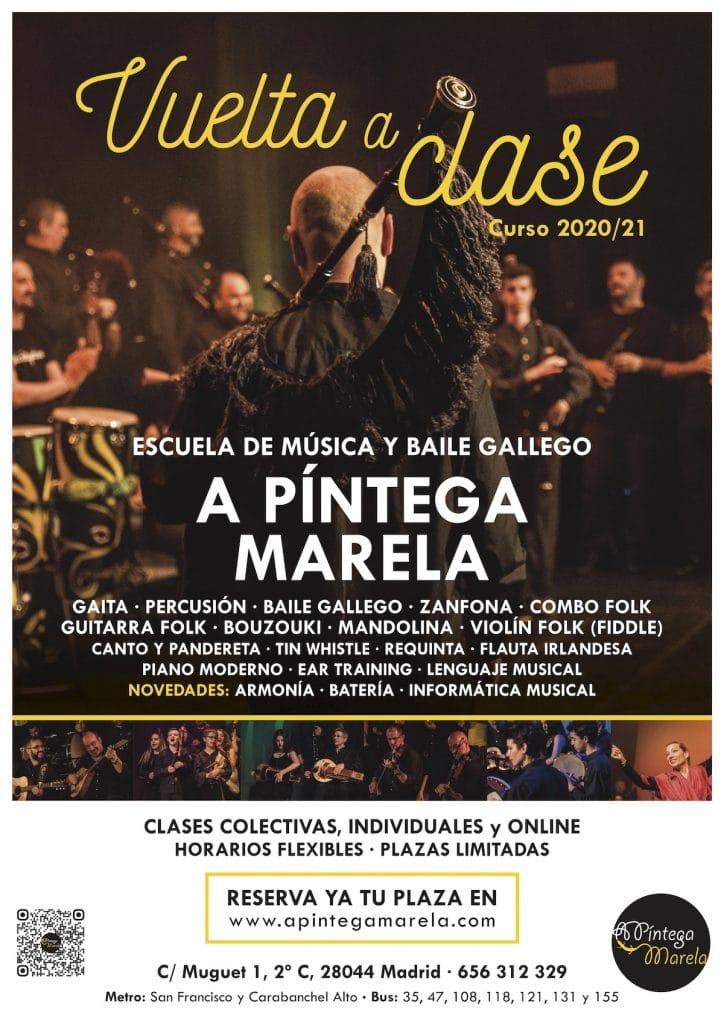 Escuela de Música Gallega A Píntega Marela - Carabanchel - Madrid - Curso 2020-2021
